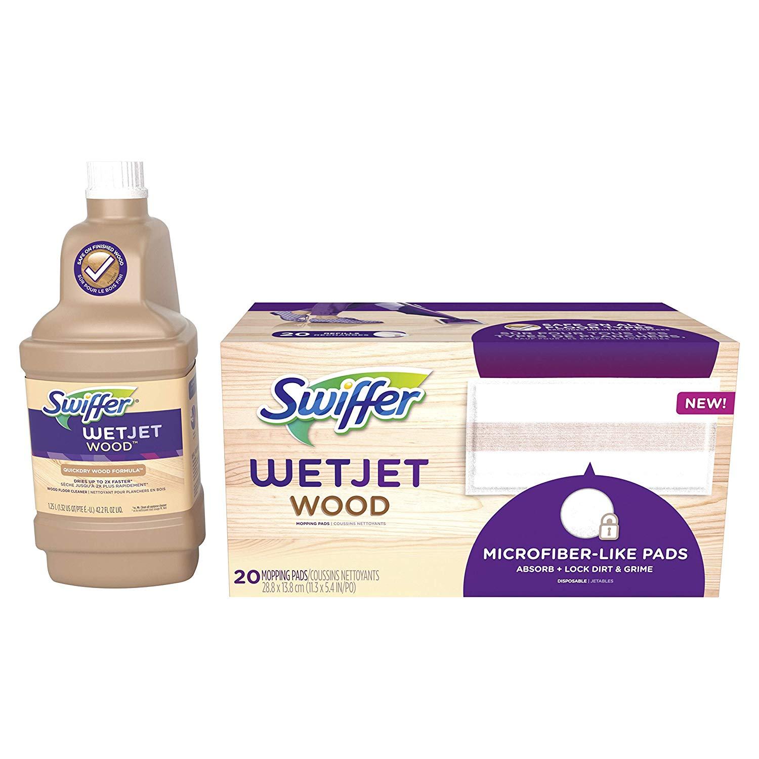 Swiffer Wetjet Wood Floor Mopping And Cleaning Refill